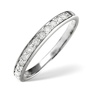Photo of 1/2 Eternity Ring 0.33CT Diamond Platinum Jewellery Woman