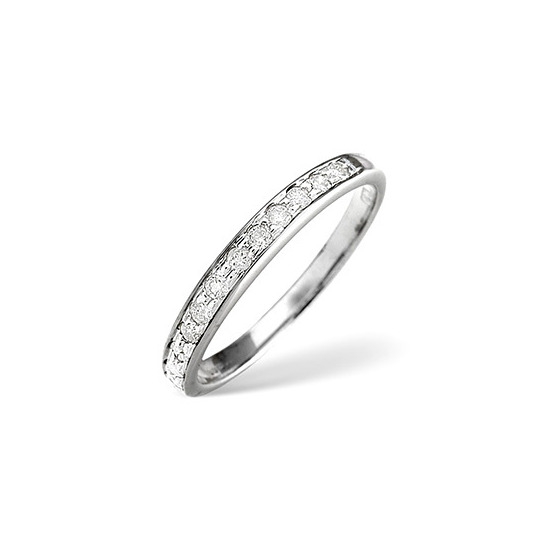 1/2 Eternity Ring 0.33CT Diamond Platinum