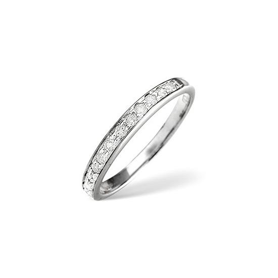 1/2 Eternity Ring 0.33CT Diamond Platinum