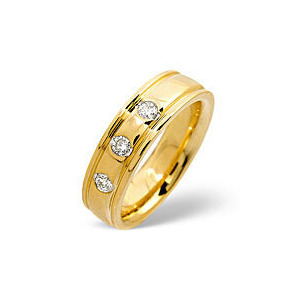 Photo of H/Si Wedding Ring 0.20CT Diamond 18K Yellow Gold Jewellery Woman