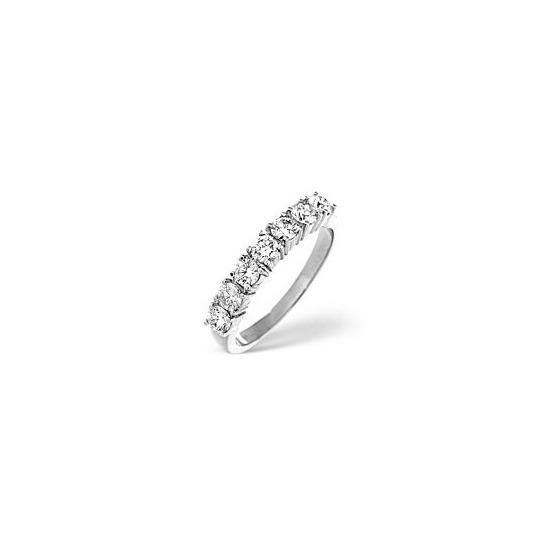 G/Vs 1/2 Eternity Ring 0.75CT Diamond 18K White Gold