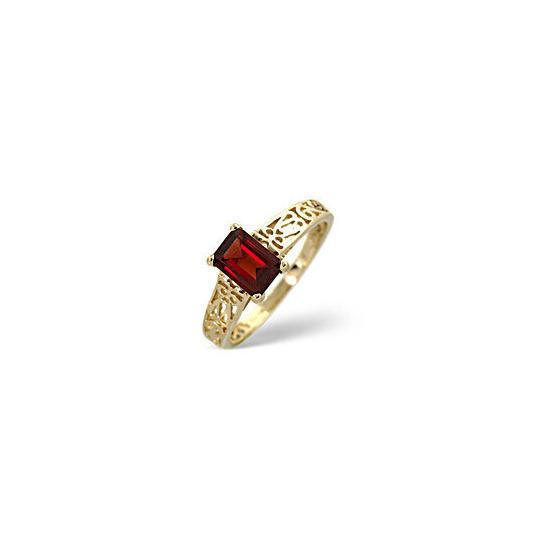 Garnet Ring  African Garnet 9K Yellow Gold