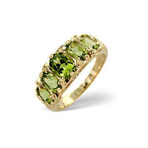 Photo of The Diamond Store Peridot Ring 9K Yellow Gold Jewellery Woman