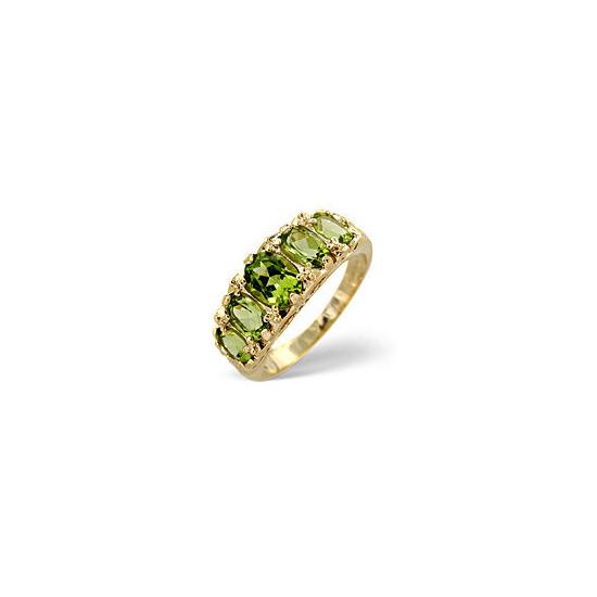 The Diamond Store Peridot Ring 9K Yellow Gold
