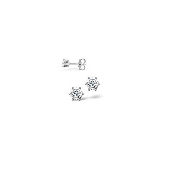 Mens Earrings 0.10CT Single Earring Diamond 18KW