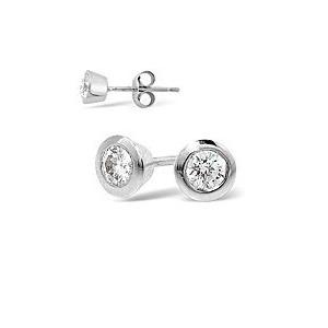 Photo of H/Si Mens Earrings 0.25CT Single Earring Diamond 18KW Jewellery Woman