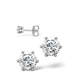 Mens Earrings 0.5CT Single Stone Diamond 18KW Reviews
