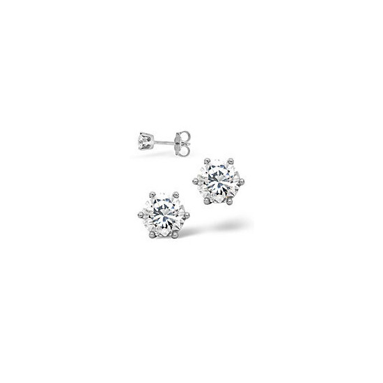 Mens Earrings 0.5CT Single Stone Diamond 18KW