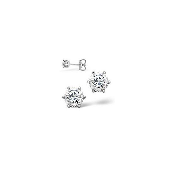 Mens Earrings 0.5CT Single Stone Diamond 18KW