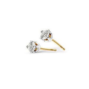 Photo of SINLGE Stud Earring In 9K White Gold Jewellery Woman