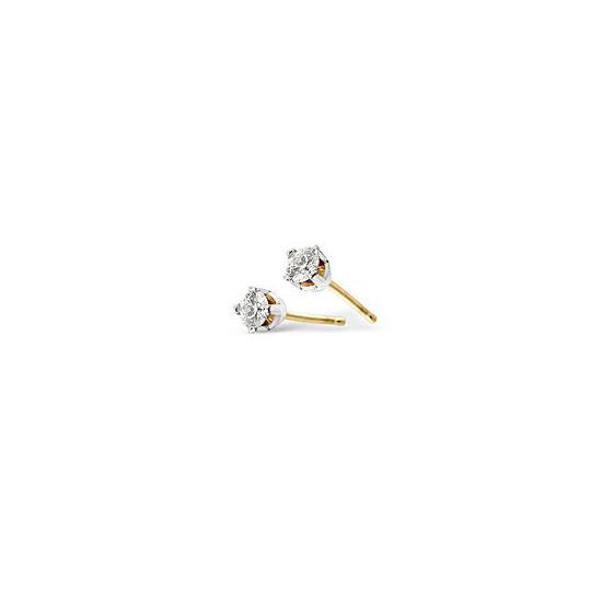 Sinlge Stud Earring in 9K White Gold