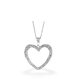 The Diamond Store Heart Pendant 0 32CT Diamond 9K White Gold Reviews