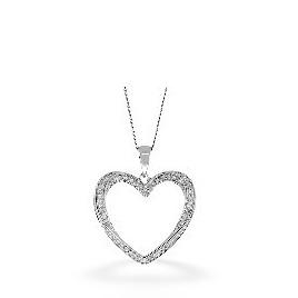 The Diamond Store Heart Pendant 0 32CT Diamond 9K White Gold Reviews