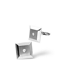 Cufflinks 0.05CT Diamond 9K White Gold Reviews