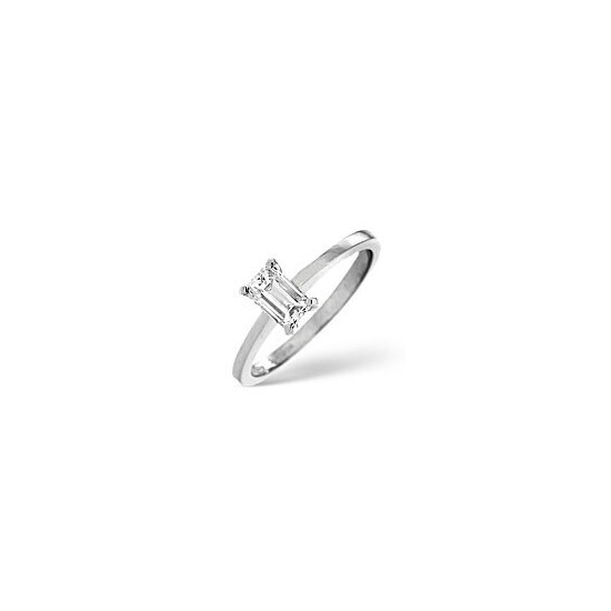 The Diamond Store g Vs Engagement Ring 0 25CT Diamond 18K White Gold