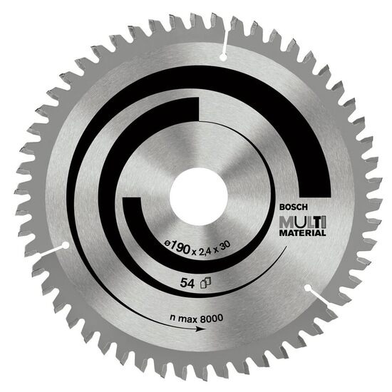 Bosch 2608640514 Circular Saw Blade Multi Material 235mm, 64 Teeth