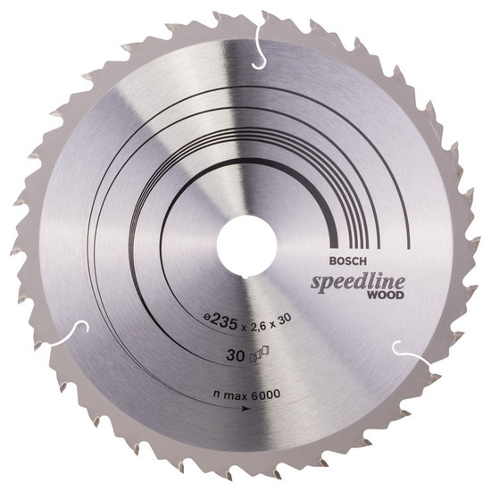 Bosch 2608640807 Speedline Circular Saw Blade (235 x 30mm) - 30 Teeth