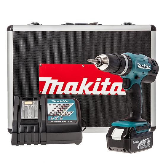 Makita DHP453RFX 18V Li-Ion Cordless Combi Drill (1 x 3Ah Battery)