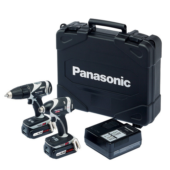 Panasonic EYC207LS2F31 14.4V li-ion Combi Drill Plus Impact Driver Twinpack (2 x