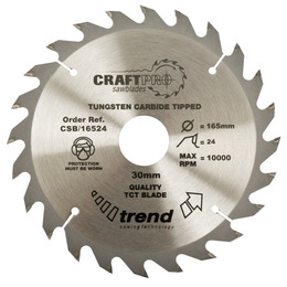 Trend CSB/19024 Craft Saw Blade 190mm X 24 Teeth X 30mm Reviews