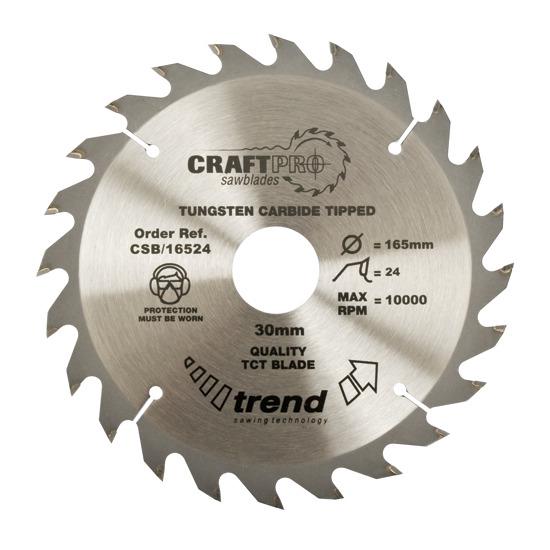 Trend CSB/21024 Craft Saw Blade 210mm X 24 Teeth X 30mm