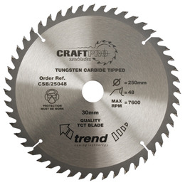 Trend CSB/25048 Craft Saw Blade 250mm X 48 Teeth X 30mm Reviews