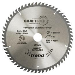 Trend CSB/25060 Craft Saw Blade 250mm X 60 Teeth X 30mm Reviews