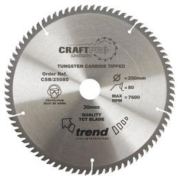 Trend CSB/25080 Craft Saw Blade 250mm X 80 Teeth X 30mm Reviews