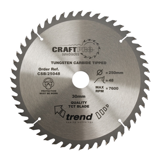 Trend CSB/30048 Craft Saw Blade 300mm X 48 Teeth X 30mm