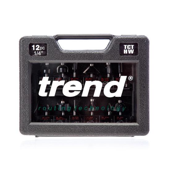 Trend SET/SS8X1/4TC 12 Piece Starter Cutter Set (Shank Diameter 1/4)