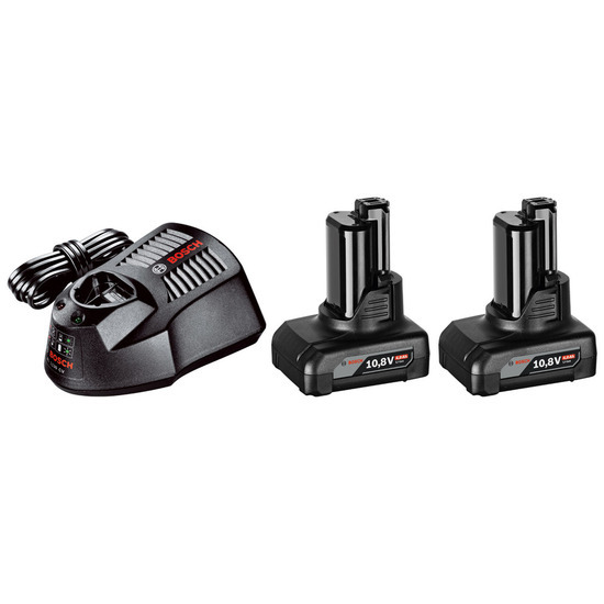 Bosch GBA1084SET 10.8V lli-ion 4Ah Starter Set with 2 Batteries and Charger