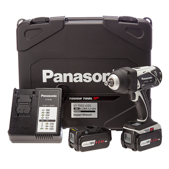 Panasonic EY7552LS2S31 18V Heavy-Duty Impact Wrench (2 x 4.2Ah Batteries)