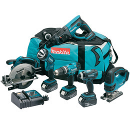Makita DLX6017M 18V Cordless li-ion 6 Piece Kit (3 x 4Ah Batteries Reviews