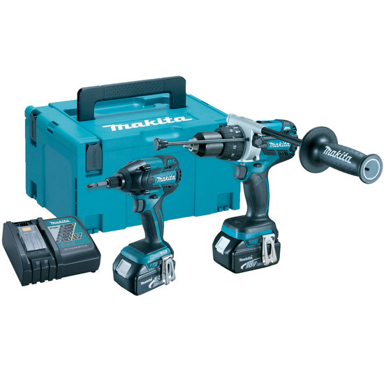 Makita DLX2040MJ 18V Cordless Brushless li-ion 2 Piece Kit (2 x 4Ah Batteries)
