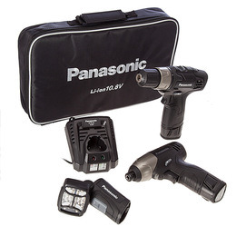 Panasonic EYC110LA2L 10.8V Cordless Drill Driver/Impact Driver/Torch (2 x Batts) Reviews