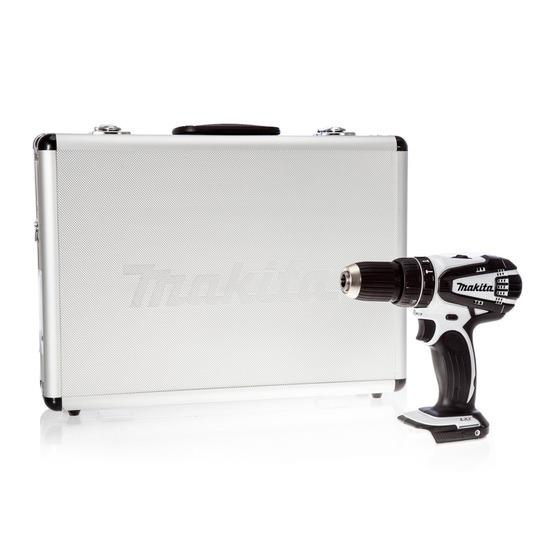 Makita DHP456ZW 18V Cordless li-ion Combi Drill 2-Speed (Body Only) - White
