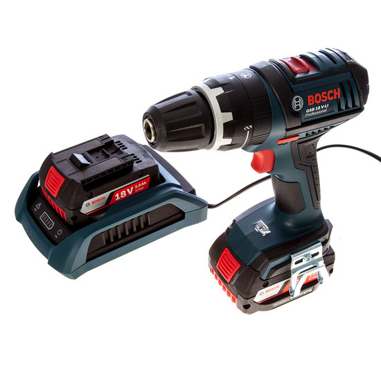 Bosch GSB18VLI2W 18V Cordless Combi Drill with Wireless Charging System 2 x 2Ah