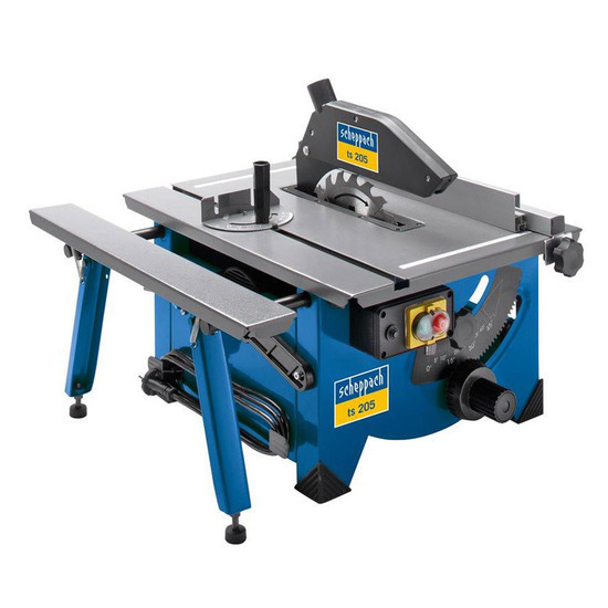 Scheppach TS205 8 Table Top Sawbench 240V complete with Sliding side extension
