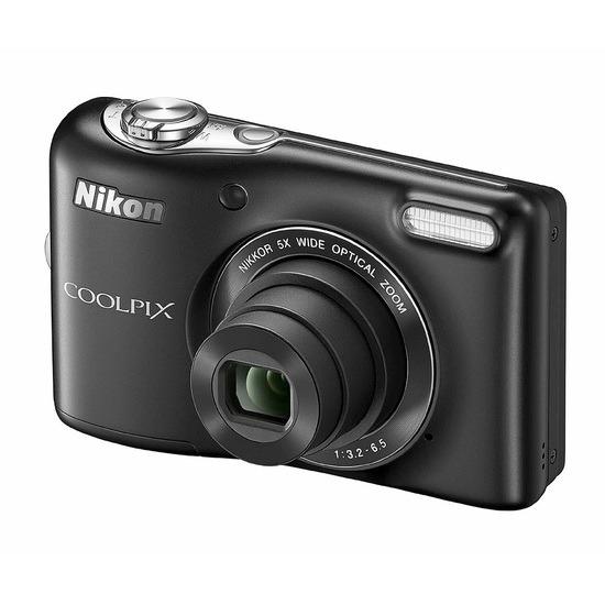 Nikon Coolpix L30 Compact Digital Camera in Black 20.1 Megapixels 3.0 inch LCD
