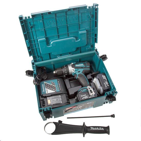 Makita Combi Drill DHP458RMJ 18V Cordless li-ion 2-speed (2 x 4.0Ah Batteries)