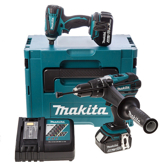 Makita DLX2005MJ 18V Cordless li-ion 2 Piece Kit (2 x 4Ah Batteries)