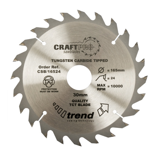 Trend CSB/23024 Craft Saw Blade 230mm X 24 Teeth X 30mm