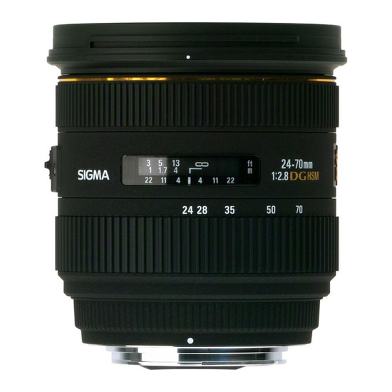 SIGMA 24-70 mm f/2.8 DG EX HSM IF Zoom Lens - for Canon