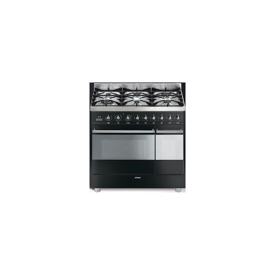SMEG SY92PBL8 900mm dual fuel range cooker