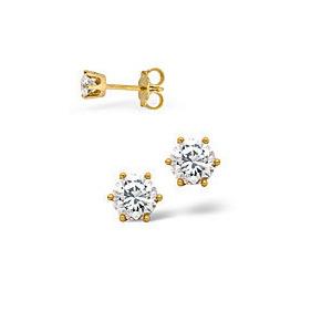 Photo of Stud Earrings 0.20CT Diamond 18KY Jewellery Woman