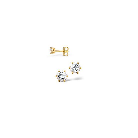 Stud Earrings 0.20CT Diamond 18KY