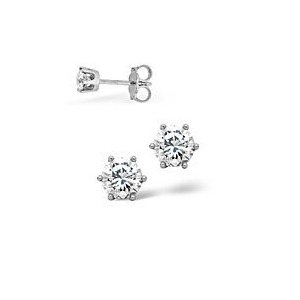 Photo of g/Vs Stud Earrings 0.20CT Diamond 18KW Jewellery Woman
