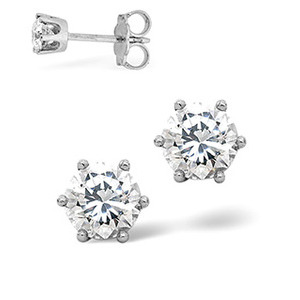 Photo of H/Si Stud Earrings 0.40CT Diamond 18KW Jewellery Woman