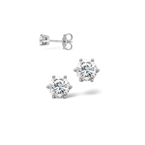 H/Si Stud Earrings 0.40CT Diamond 18KW