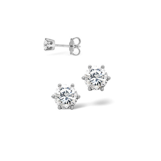 H/Si Stud Earrings 0.40CT Diamond 18KW